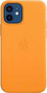 Чехол Apple MagSafe для iPhone 12/12 Pro, кожа, «золотой апельсин»