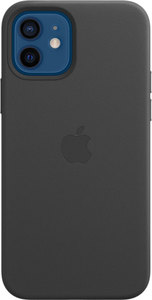 Чехол Apple MagSafe для iPhone 12/12 Pro, кожа, чёрный