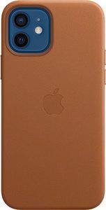 Чехол Apple MagSafe для iPhone 12/12 Pro, кожа, золотисто-коричневый
