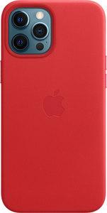 Чехол Apple MagSafe для iPhone 12 Pro Max, кожа, красный (PRODUCT)RED