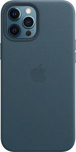 Чехол Apple MagSafe для iPhone 12 Pro Max, кожа, «балтийский синий»
