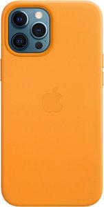 Чехол Apple MagSafe для iPhone 12 Pro Max, кожа, «золотой апельсин»